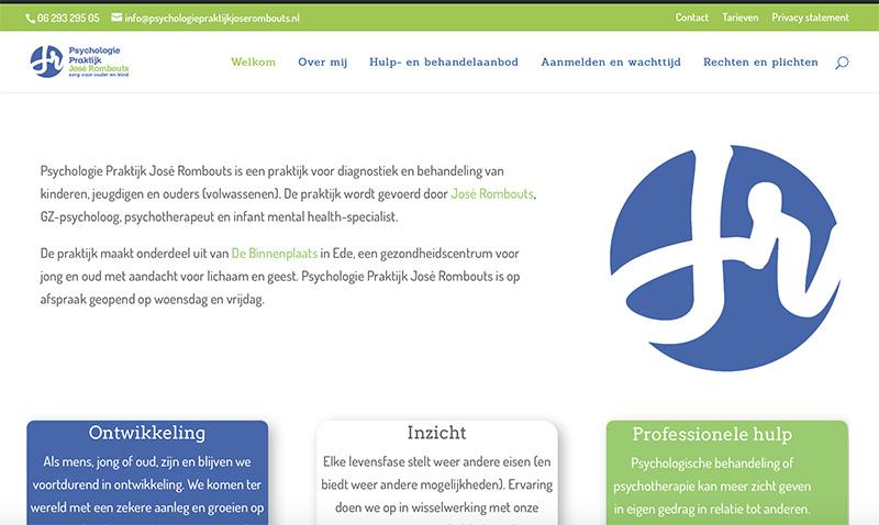 Website voor Pyschologiepraktijk José Rombouts