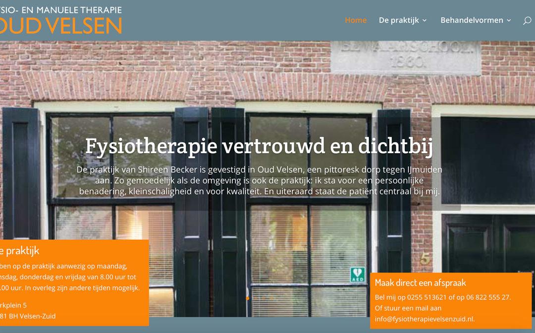 Website en logo voor Fysiotherapiepraktijk Oud Velsen