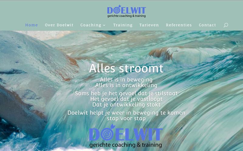 Website en huisstijl voor Doelwit Coaching