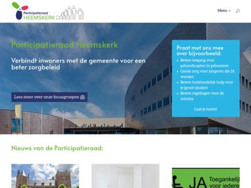 Website Participatieraad Heemskerk